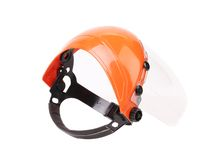 Plastic protective face shield. Stock Images