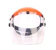 Plastic protective face shield. Stock Photos