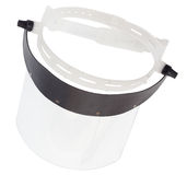 Plastic protective face shield Stock Photography
