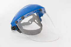 Plastic protective mask for works Royalty Free Stock Images