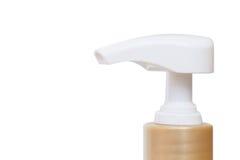 Plastic pump bottle isolated on white background Stock Photos