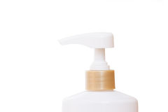 Plastic pump bottle isolated on white background Royalty Free Stock Image
