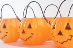 Plastic Pumpkins Stock Image