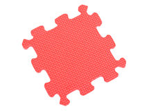 Plastic puzzle piece Royalty Free Stock Images