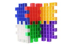 Plastic Puzzle Pieces Royalty Free Stock Images