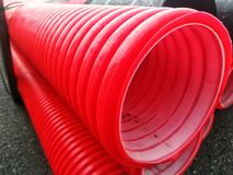 Plastic PVC pipes. For construction. Industry, industrial, tubes, drain Royalty Free Stock Photos