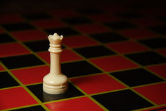 Plastic queen chess piece Royalty Free Stock Photo