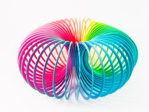 Plastic rainbow toy. On white background Stock Photo