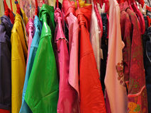 Plastic raincoats Stock Image
