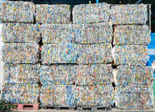 Plastic recycle. Bottle pet plastic  prepare to recycle Stock Images