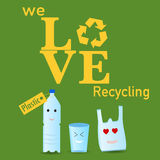The plastic recycle poster Stock Photography