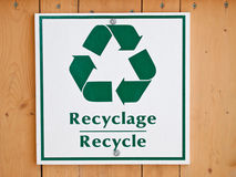 Plastic recycle sign Stock Photo