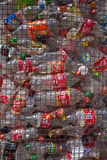 Plastic recycling of bottles Royalty Free Stock Image