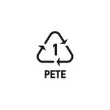 Plastic recycling symbol isolated on white Stock Photography