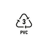 Plastic recycling symbol isolated on white Royalty Free Stock Photography