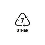 Plastic recycling symbol isolated on white Royalty Free Stock Photo