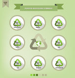 Plastic recycling symbols Stock Photography