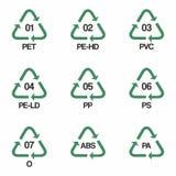 Plastic recycling symbols vector design Stock Photo