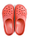 Plastic Red Clogs Royalty Free Stock Photos