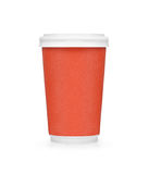 Plastic red coffee cup Royalty Free Stock Photography