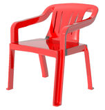 Plastic red color chair flat sit down Royalty Free Stock Images