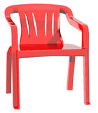 Plastic red color chair sit down Royalty Free Stock Image