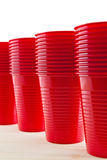 Plastic red cups Royalty Free Stock Photo