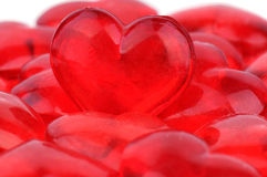 Plastic red heart Royalty Free Stock Photography