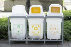 Plastic refuse bin Royalty Free Stock Photo