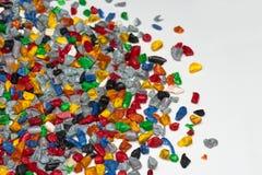 Plastic regrind Stock Image
