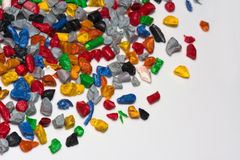 Plastic regrind Royalty Free Stock Images