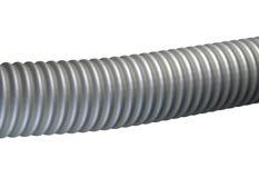 Plastic ribbed hose isolated on white background 3d illustration Stock Photography