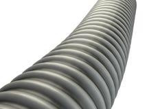 Plastic ribbed hose isolated on white background 3d illustration Royalty Free Stock Image