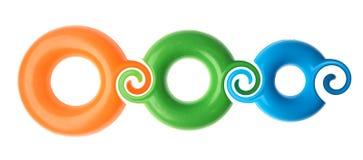 Plastic rings Stock Photos