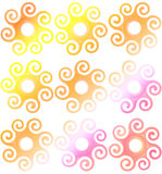 Plastic rings backgrounds Stock Image