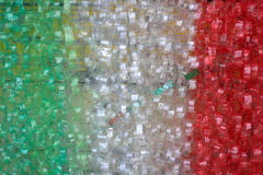 Plastic rings chains with italian colors Royalty Free Stock Photos