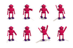 Plastic Robot Girl in Different Poses Stock Photography