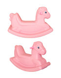 Plastic Rocking Horse-Children's Toy Stock Image