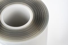 The plastic roll for wrap and seal food. The plastic roll for wrap and seal food in the factory Stock Images