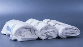 Plastic rolled up bag Royalty Free Stock Photography