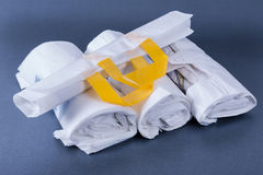 Plastic rolled up bag Stock Images