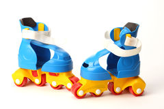 Plastic roller skates Royalty Free Stock Photos