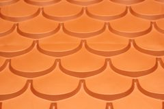Plastic roof tiles Stock Photos