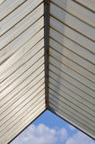 Plastic roofing and blue sky Royalty Free Stock Images