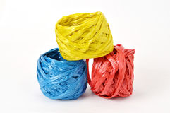 Plastic rope. Three plastic rope on the white background Stock Image