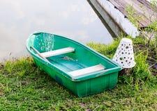 Plastic row boat Stock Image