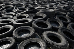 Plastic rubber tires Royalty Free Stock Image