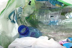 Plastic rubbish for recycling Royalty Free Stock Photography