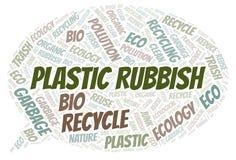 Plastic Rubbish word cloud stock illustration