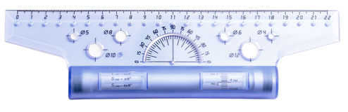Plastic ruler Stock Images